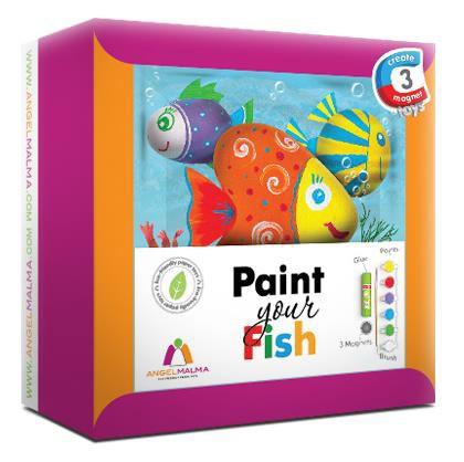 Детский набор для творчества Раскрась своих рыбок