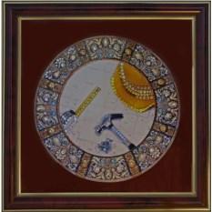 Картина с кристаллами Сваровски Строители-4