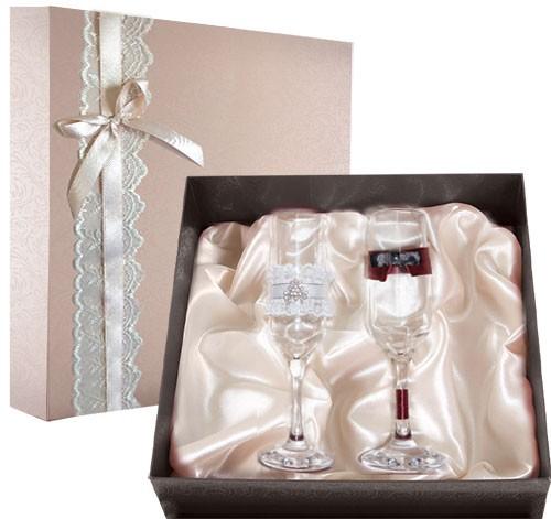 Набор свадебных бокалов №34 в подарочной коробке