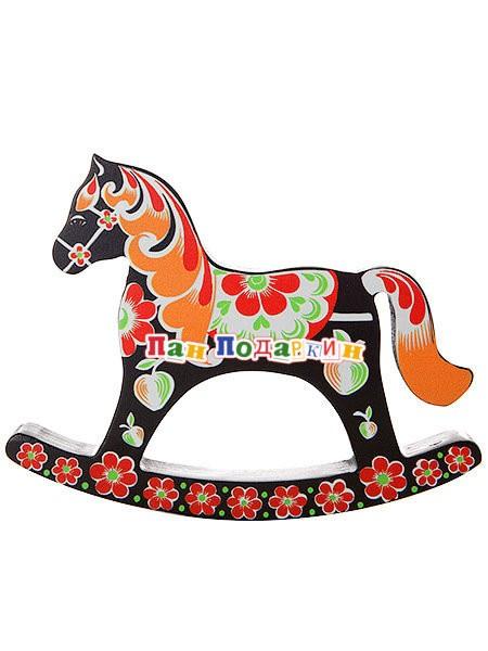 Сувенирная лошадка-качалка Хохлома
