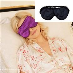 Шелковая маска для сна (цвет черный)