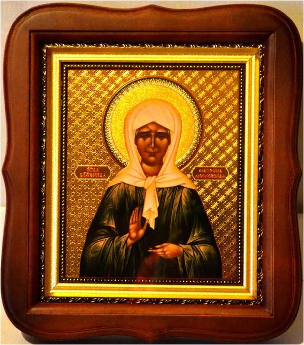 Икона Матрона Московская Святая блаженная