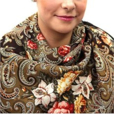 Павлопосадский платок Тайна сердца (125*125 см)