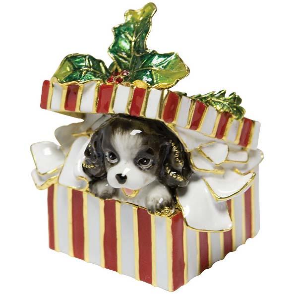 Шкатулка «Собака в праздничной коробке»