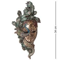 Венецианская маска Павлин с сине-зелеными перьями