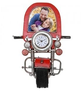Фоторамка с часами «Мотоцикл»