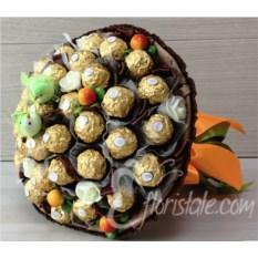 Букет из Ferrero Rocher с птичками