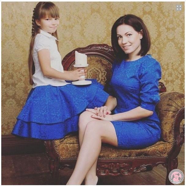 Парный комплект для мамы и дочки Звездный вечер