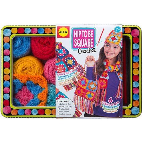Набор для вязания крючком Модные вещи из вязаных квадратов
