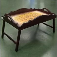 Столик для завтрака с фигурным бортиком Солнечный букет