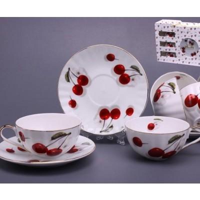 Набор чайный на 6 персон «Вишня»
