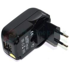 USB Сетевой адаптер, черный, 2 разъема
