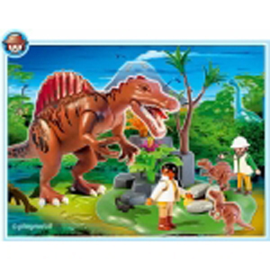 Спинозавр с детёнышами