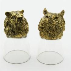 Набор рюмок-перевертышей с головами животных Тигр и лев