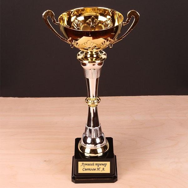 Наградной кубок с именной гравировкой, золотой