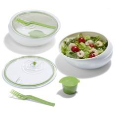 Бело-зеленый ланч-бокс Lunch Bowl