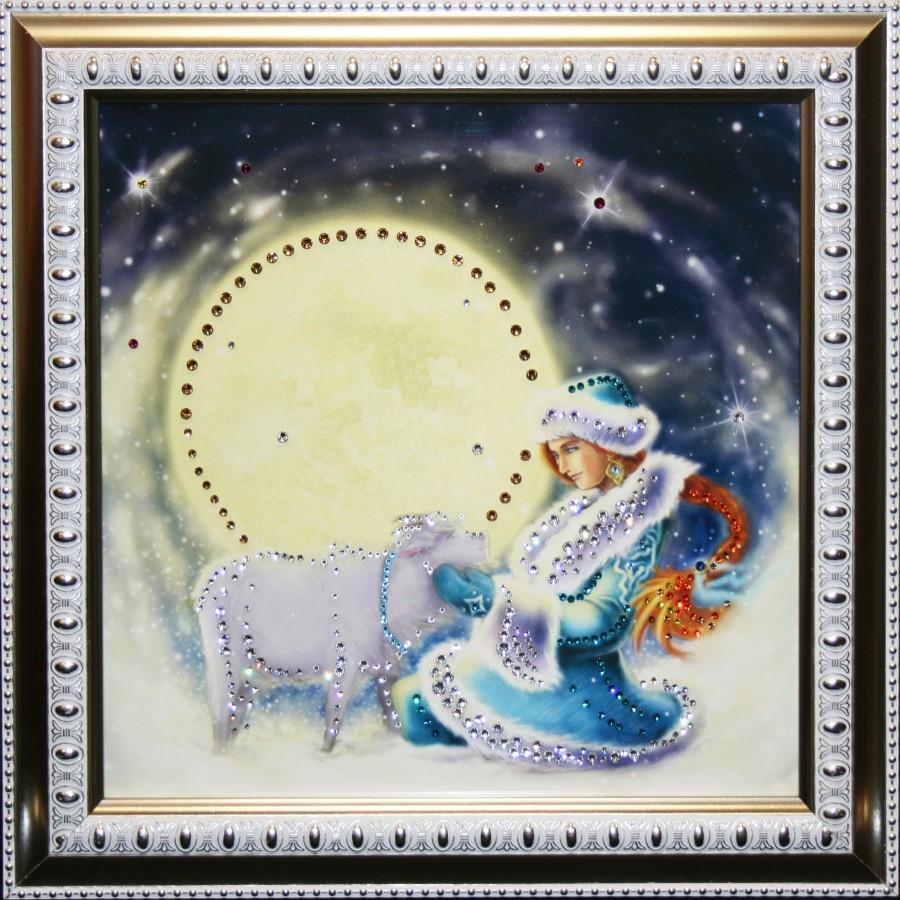 Картина с кристаллами Сваровски Снегурочка