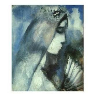 Репродукция картины М. Шагала «Невеста с веером»