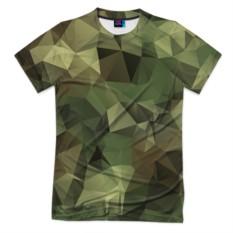 Мужская футболка 3D с полной запечаткой Камуфляж