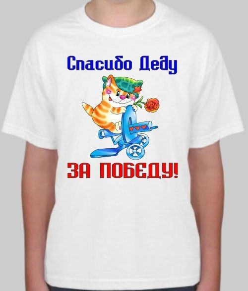 Детская футболка Спасибо деду за победу