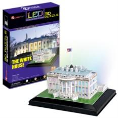 3D пазлы Cubic Fun Белый дом с иллюминацией (Вашингтон)