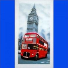 Картина Лондонский автобус на фоне Бигбена