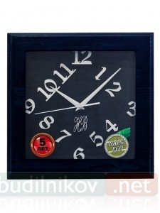 Настенные деревянные часы, 30 см, черные
