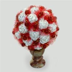 Цветы из сердолика Любви очарованье
