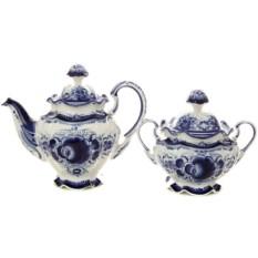 Чайный набор с Гжельской росписью Семейный