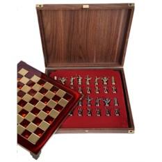 Металлический красный шахматный набор Античные войны