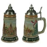 Пивная кружка коллекционная с крышкой Москва