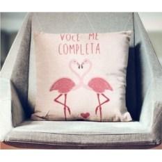 Декоративная наволочка Влюбленные фламинго