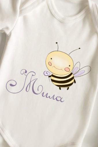 Боди для малыша с вашим текстом Пчелка, размер 86