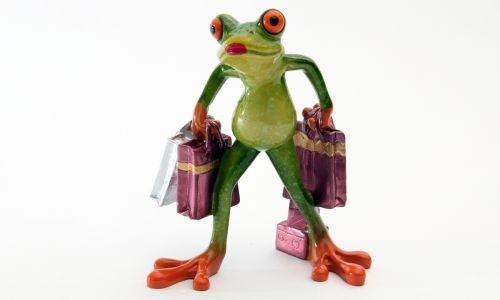 Фигурка Лягушка с сумками