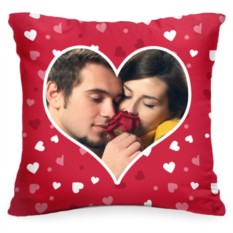 Подушка с Вашим фото «Сердце»