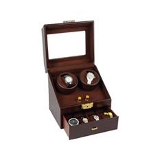 Кожаная шкатулка для часов с автоподзаводом «Грация»