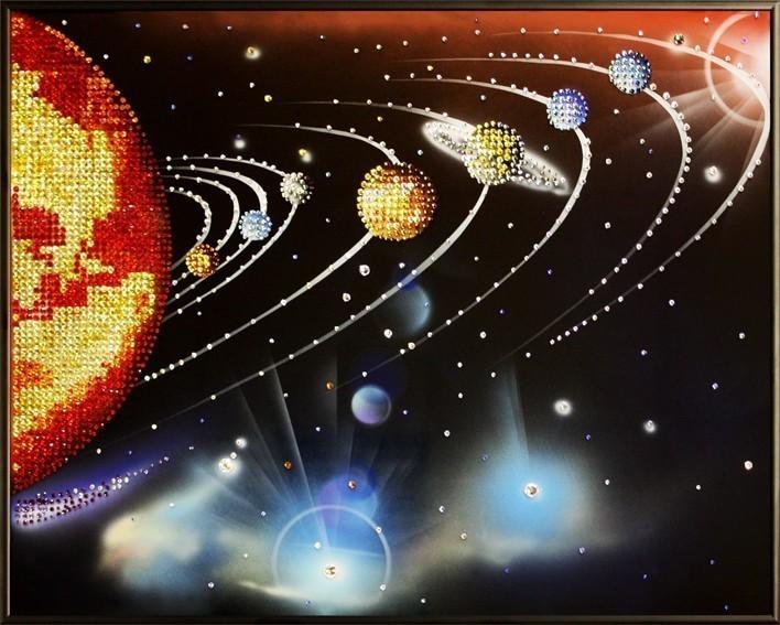 Картина Swarovski Звезда по имени Солнце, 2083 кристаллов, 40х50