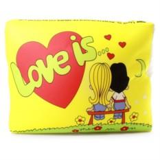 Желтая подушка Love is