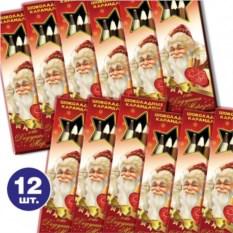 12 упаковок шоколадных карандашей От Дедушки Мороза