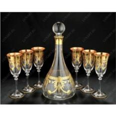 Комплект: штоф и 6 бокалов для вина Same Cristallerie