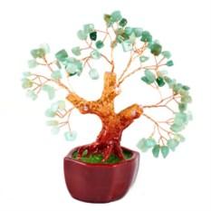 Бонсай (18 см) Нефрит (деревце счастья из натуральных камней)