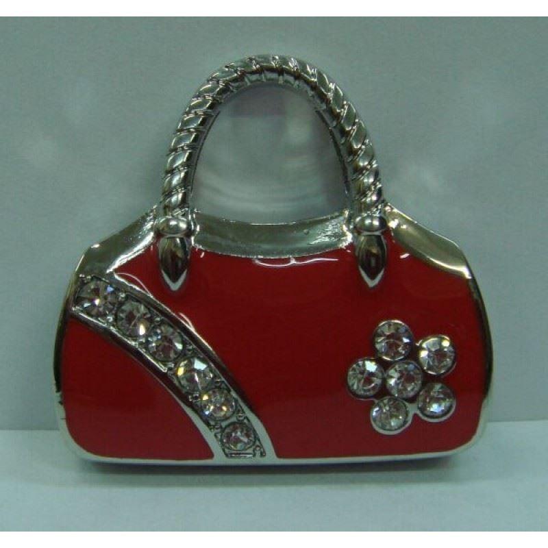 Флешка со стразами Красная сумочка