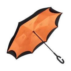 Оранжевый ветрозащитный зонт-наоборот Up Brella