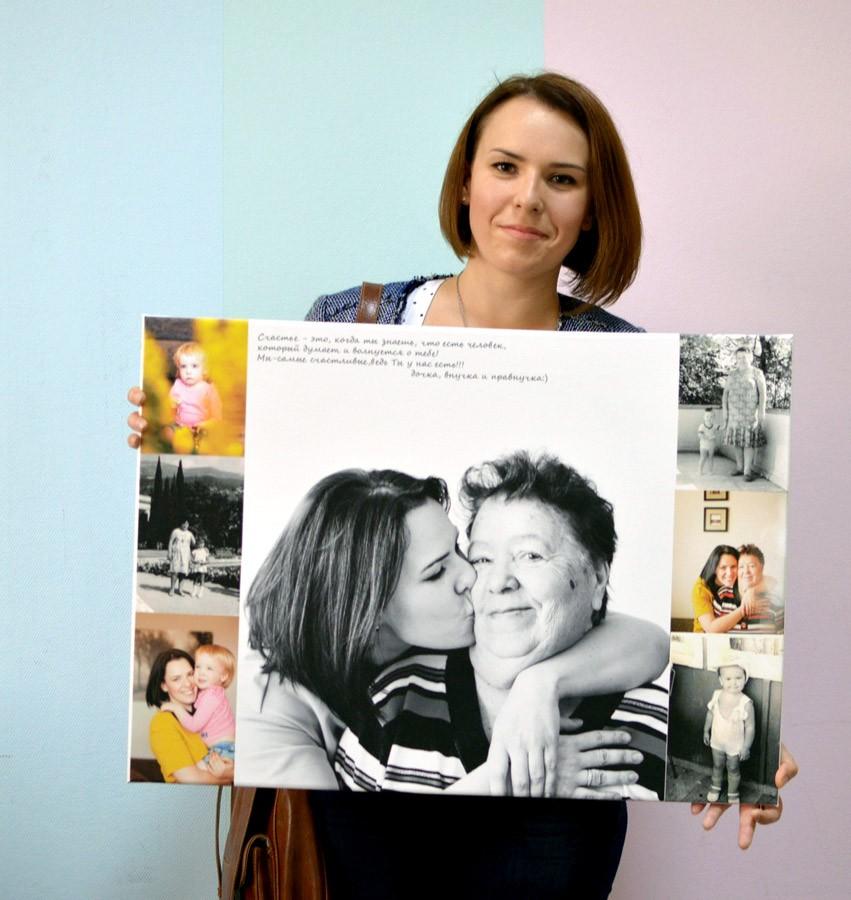 Фотоколлаж из семейных фотографий