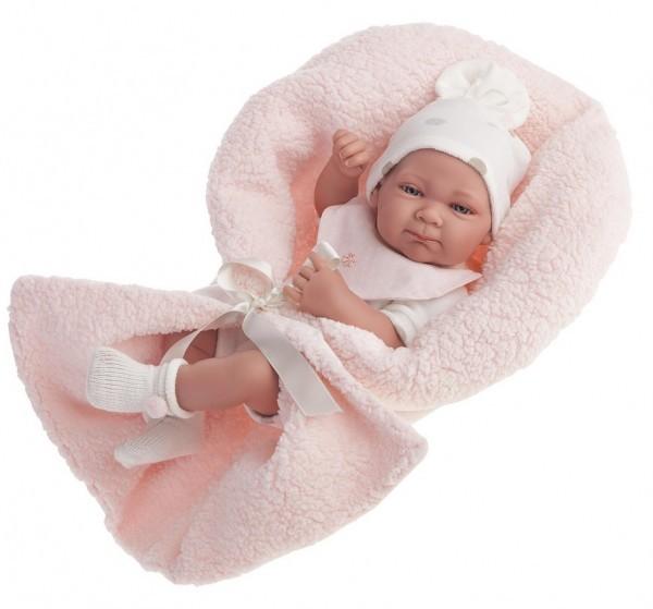 Кукла-младенец Оливия в розовом