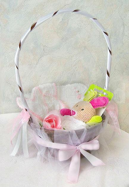Подарочная корзина для новорожденной Заинька