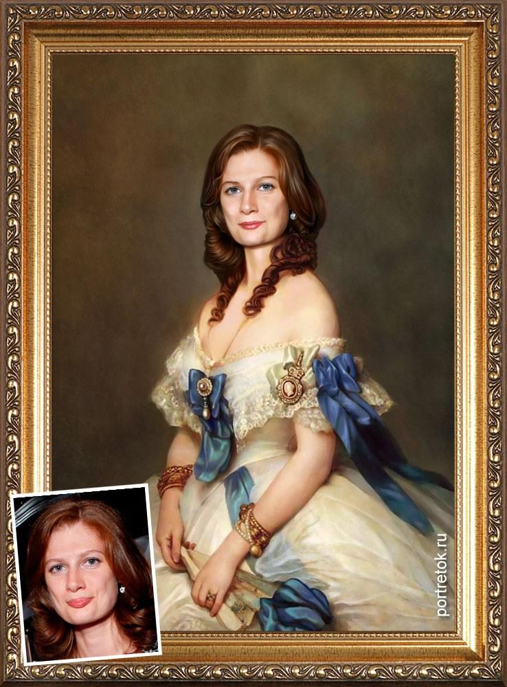 Оригинальный портрет женщине на юбилей