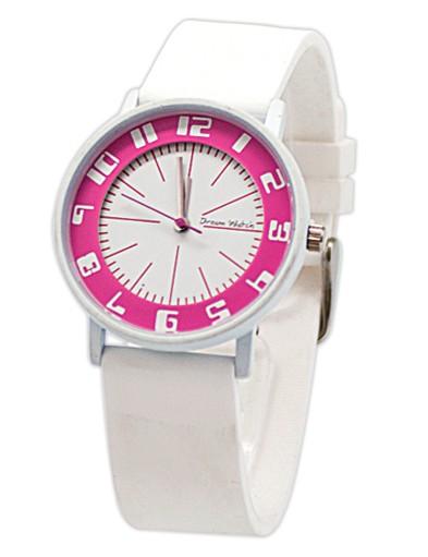 Белые часы Color circle