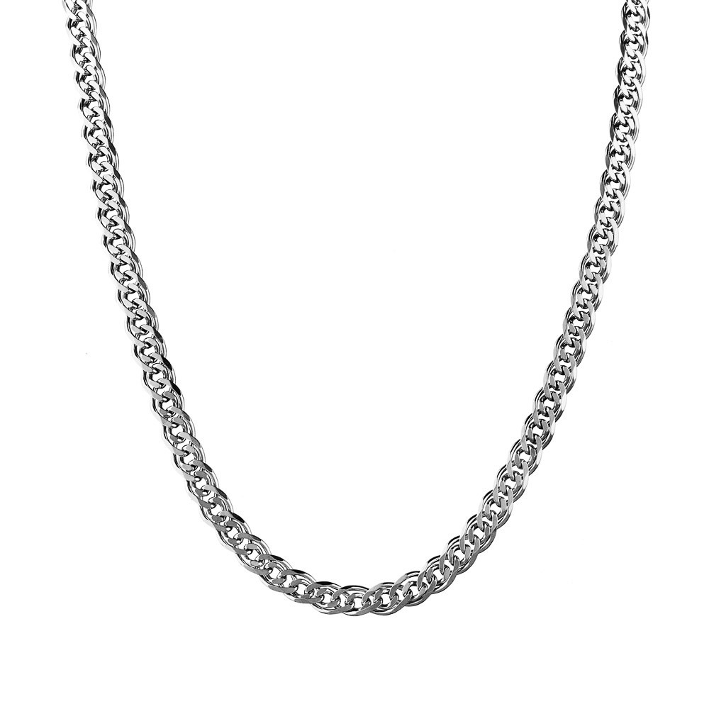 Серебряная мужская цепь с плетением Нонна