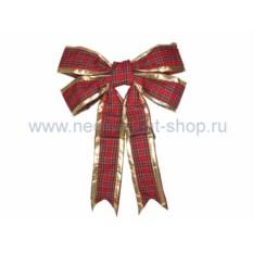 Елочная игрушка Бантик красного цвета